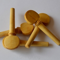 </40000>Violin Pegs 18 th c. Model 1 - Boxwood -Set