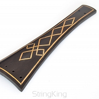 Tailpiece-Cello-Model1-Ebony with Inlay