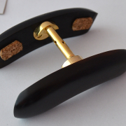 Double-Chinrest –Viola-Ebony-Bottom Gold Fittings