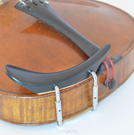 Chinrest – Violin - with double barrel - Ebony