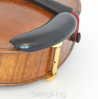 Chinrest – Ebony - bottom mounted gold fittings