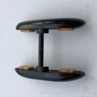 Double-Chinrest –Viola-Ebony-bottom Black fittings